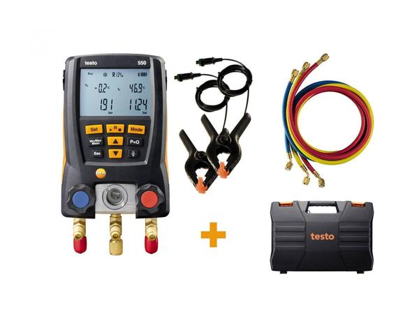 testo 550 digital manifold kit - with Bluetooth® and set of 3 filling tubes